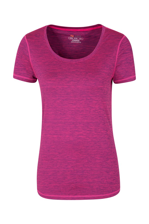 IsoCool Dynamic Panna Womens T-Shirt - Purple