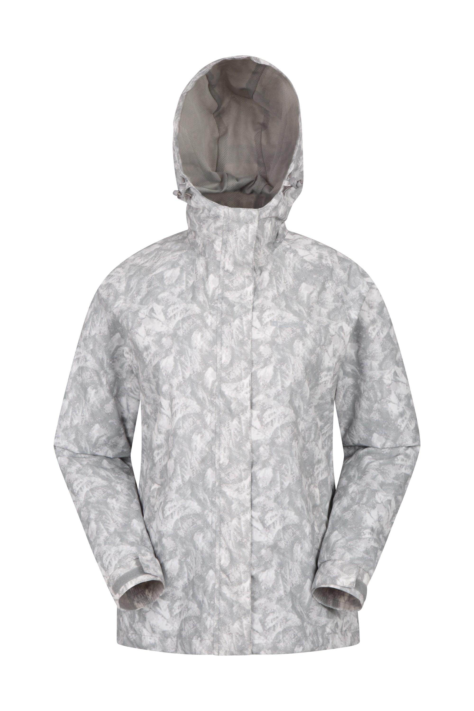 Torrent Womens Printed Waterproof Jacket - Grey
