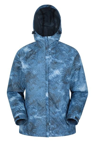 Torrent Womens Printed Waterproof Jacket - Navy
