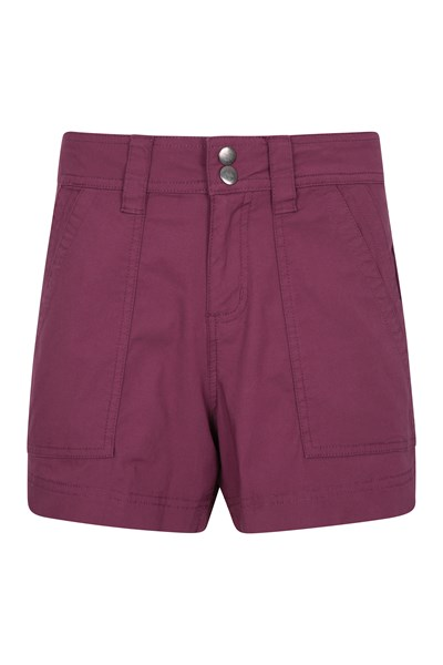 Coast Womens Shorty Shorts - Burgundy