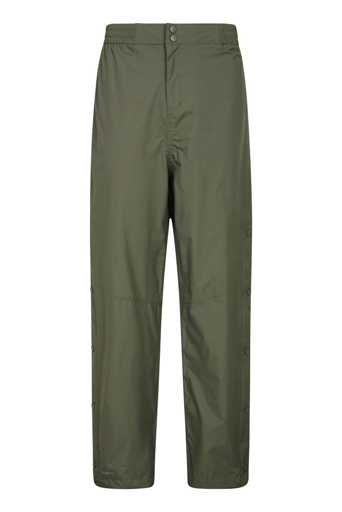 Extreme Downpour Waterproof Mens Over Trousers - Regular Length - Green