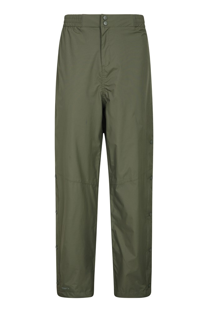 Downpour Extreme Waterproof Mens Over Trousers - Short Length - Green