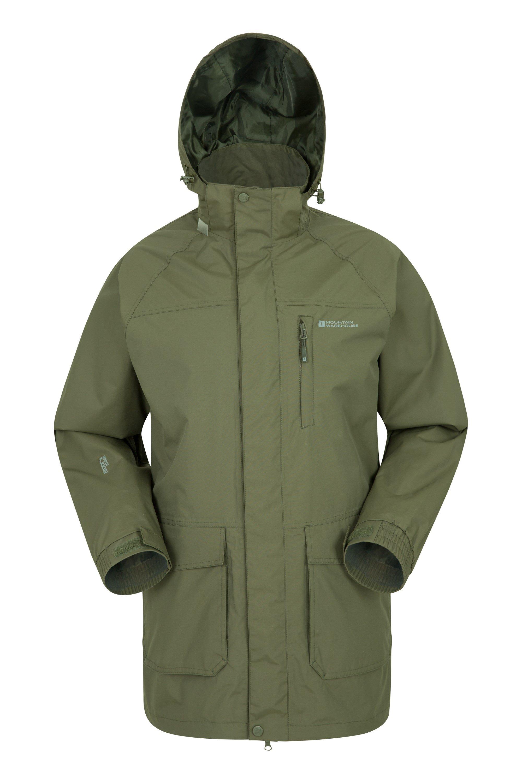 Glacier II Mens Long Waterproof Jacket - Green