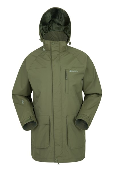 Glacier II Mens Long Waterproof Jacket - Green
