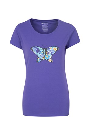 Floral Butterfly Womens Tee