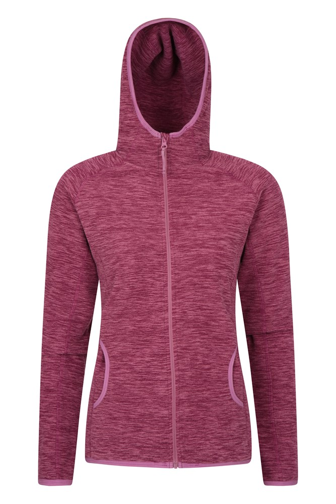 Lleyn Melange Womens Full Zip Fleece - Pink