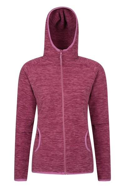 Lleyn Melange Womens Full Zip Fleece - Pink
