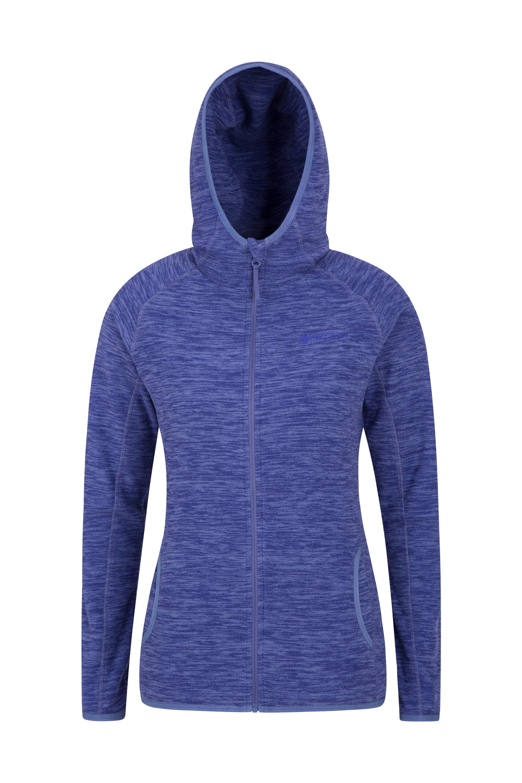 Lleyn Melange Womens Full Zip Fleece - Blue