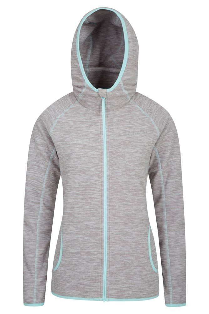 Lleyn Melange Womens Full Zip Fleece - Grey
