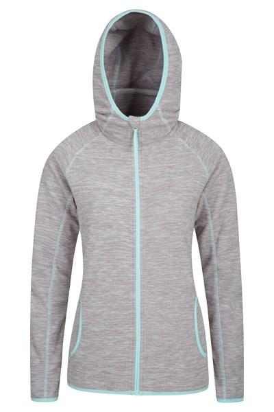 Lleyn Melange Womens Full Zip Fleece - Grey