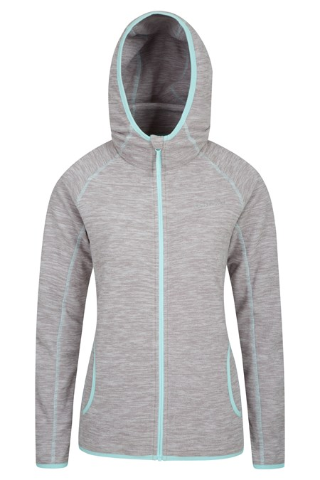 025805 LLEYN MELANGE FULL ZIP HOODED FLEECE
