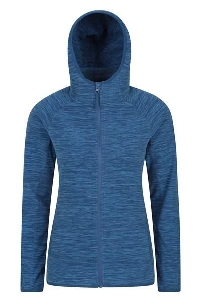 Lleyn Melange Womens Full Zip Fleece - Navy