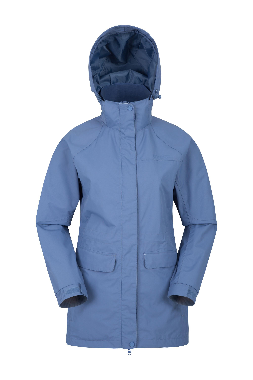 Glacial Womens Long Waterproof Jacket - Blue
