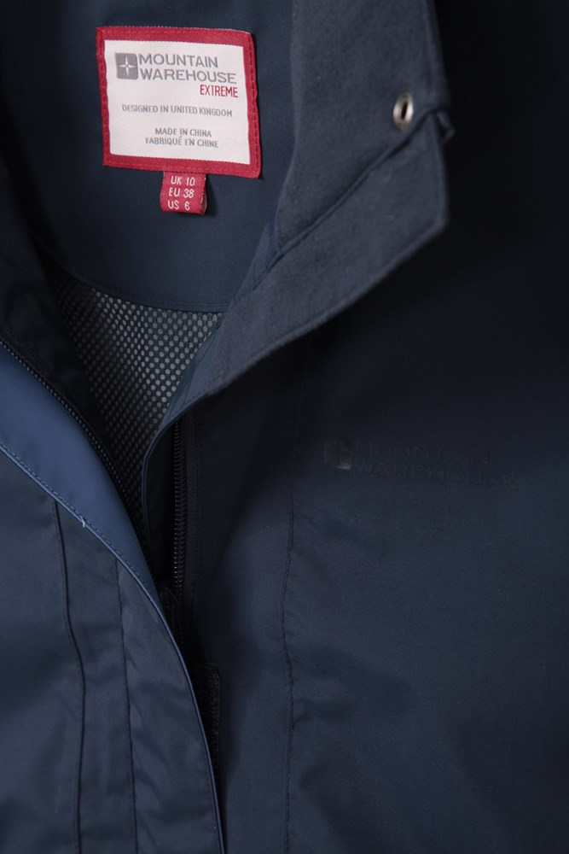 Adjustable Fit Waterproof Ladies Rain Jacket Taped Seams Coat Mountain Warehouse Gloucester Ultra Lightweight Womens Jacket for Spring Hiking Travelling