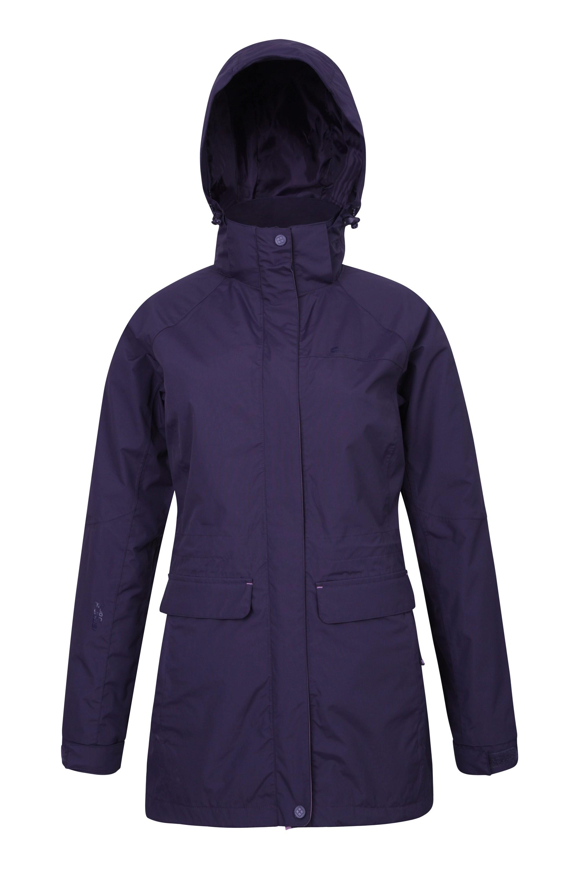 Glacial Womens Long Waterproof Jacket - Purple