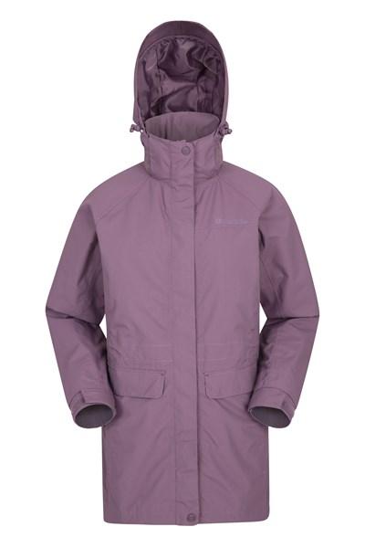 Glacial Womens Long Waterproof Jacket - Pink