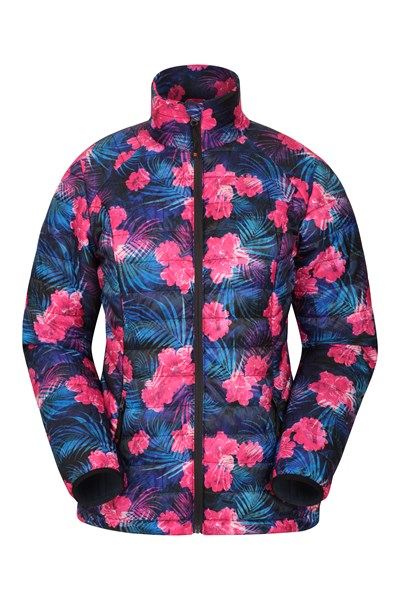 Spring Time Ultra Light Womens Padded Jacket - Purple
