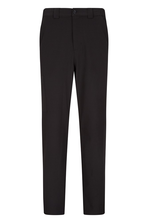 Stride Mens Stretch Trousers - Short Length - Black