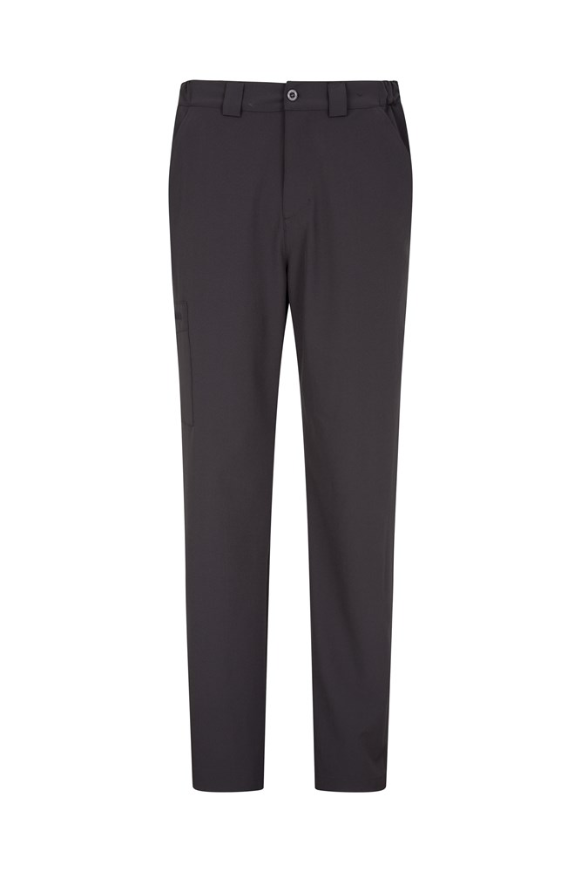 Stride Mens Stretch Trousers - Short Length - Grey