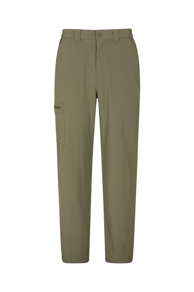 Stride Mens Stretch Trousers - Short Length - Green