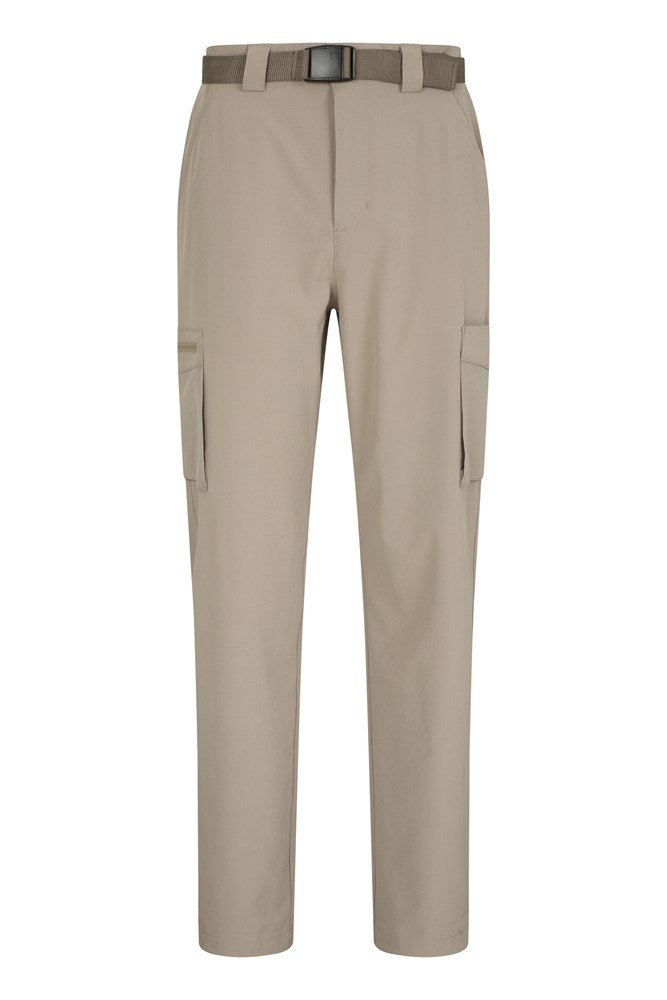 Travelling Stretch Anti-Mosquito Mens Trousers - Beige