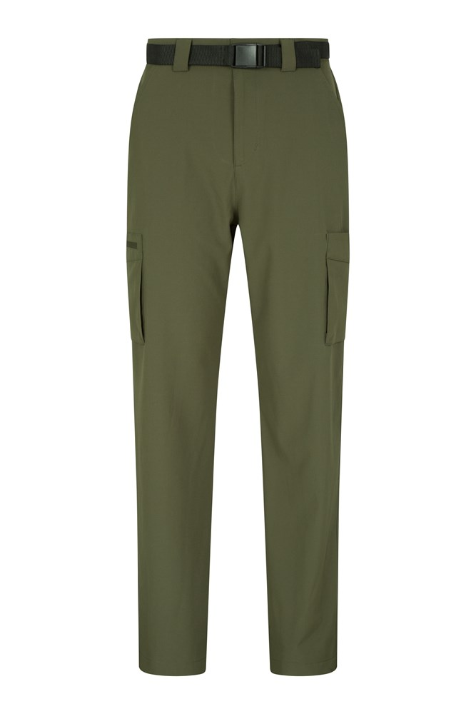 Travelling Stretch Anti-Mosquito Mens Trousers - Green