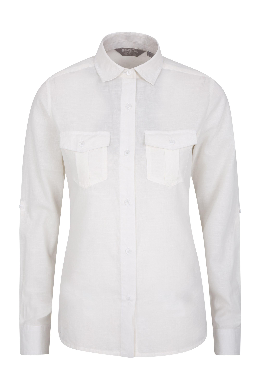 Millport Womens Long Sleeve Shirt - White