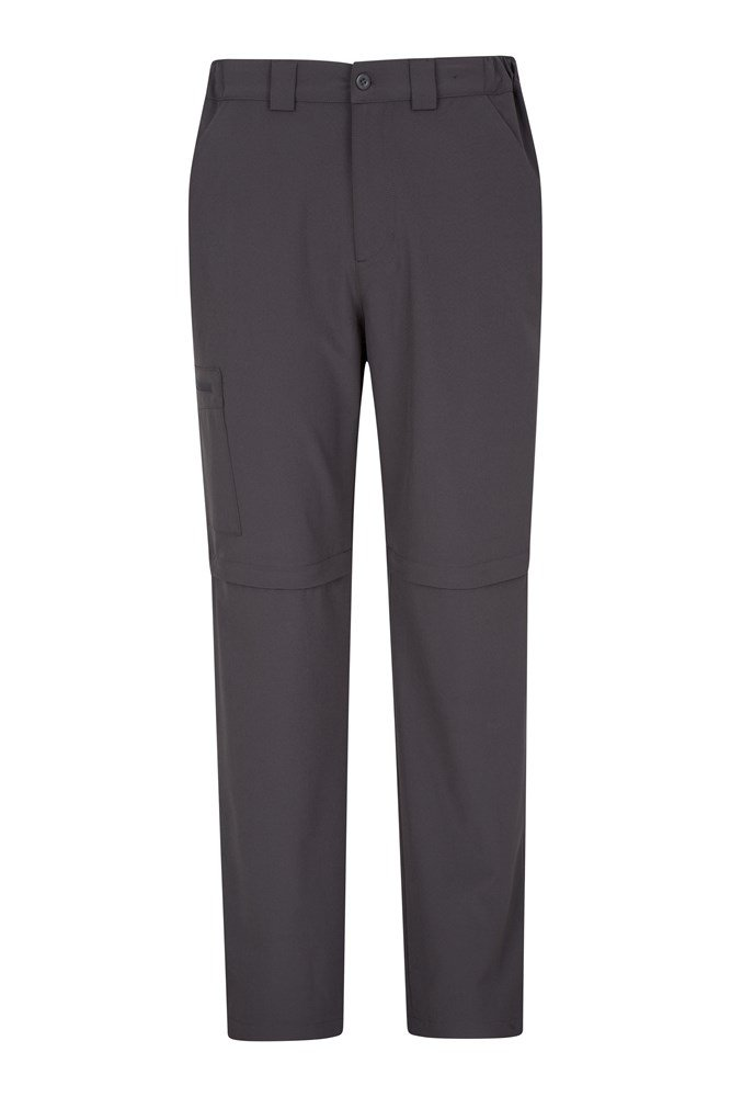 Stride Mens Stretch Zip-Off Trousers - Grey
