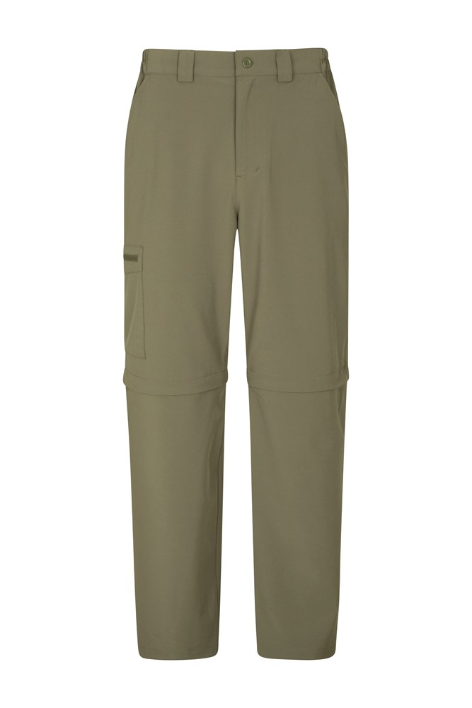 Stride Mens Stretch Zip-Off Trousers - Green