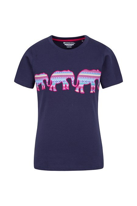 025882 AZTEC ELEPHANT KIDS TEE