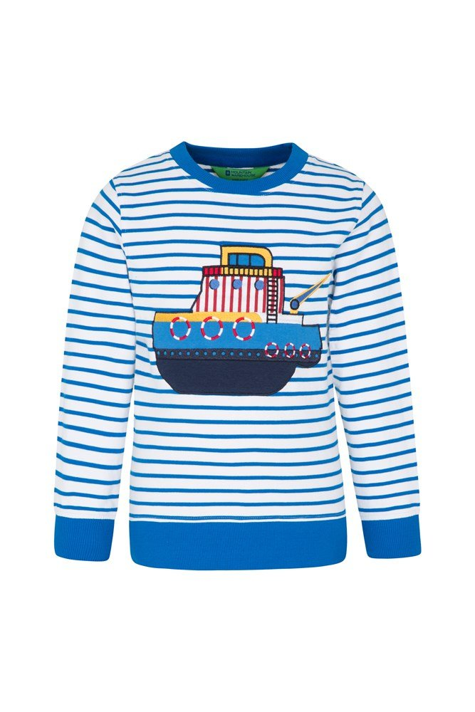 Applique Kids Sweatshirt - Blue