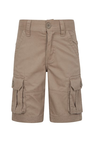 Kids Cargo Shorts - Beige