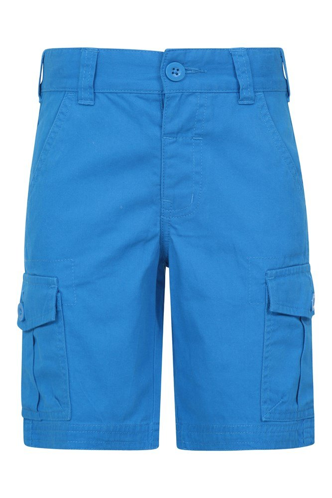 Adjustable Waistband Travelling Soft Childrens Summer Shorts 100/% Cotton Trousers Pockets Mountain Warehouse Cargo Kids Shorts for Camping Easy Care Pants