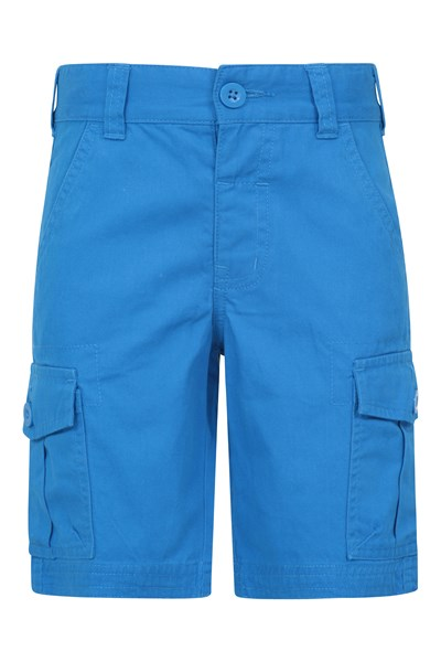 Kids Cargo Shorts - Blue