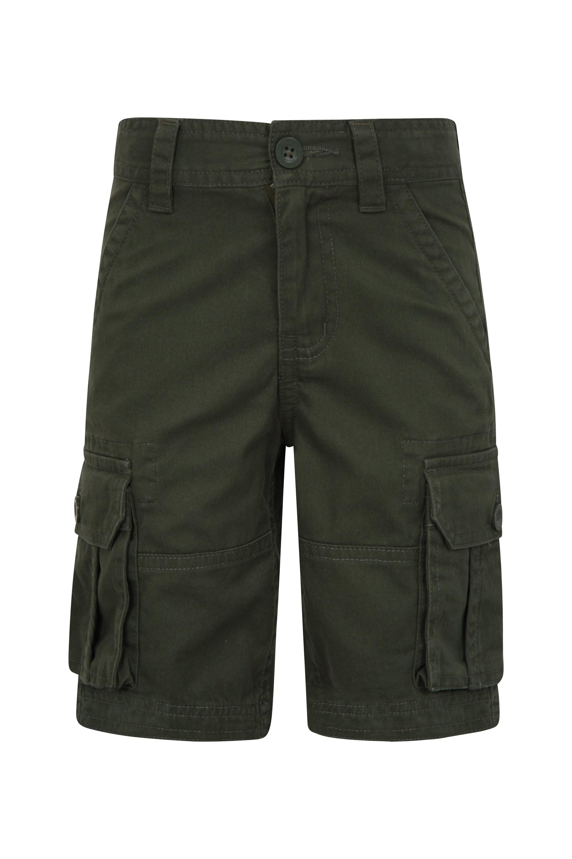 Kids Cargo Shorts - Green