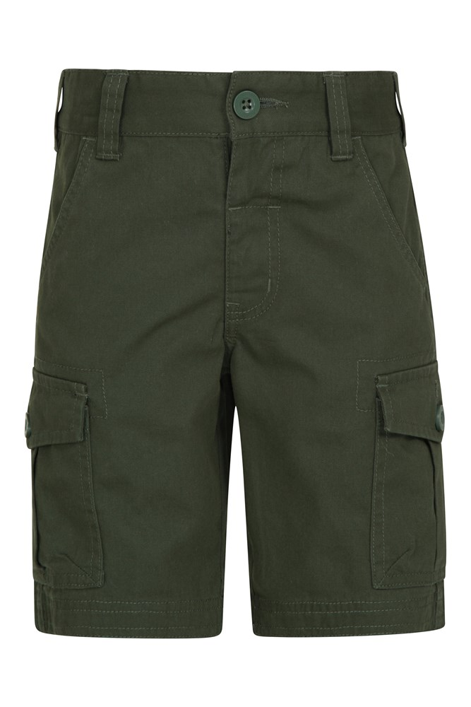 Kids Cargo Shorts - Green