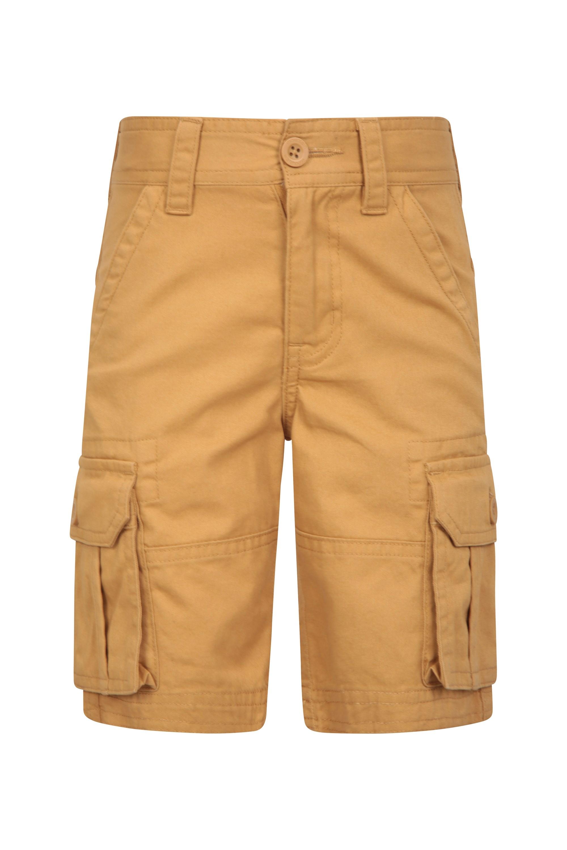 Kids Cargo Shorts - Yellow
