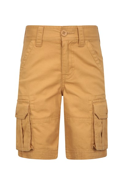 Kids Cargo Shorts - Yellow