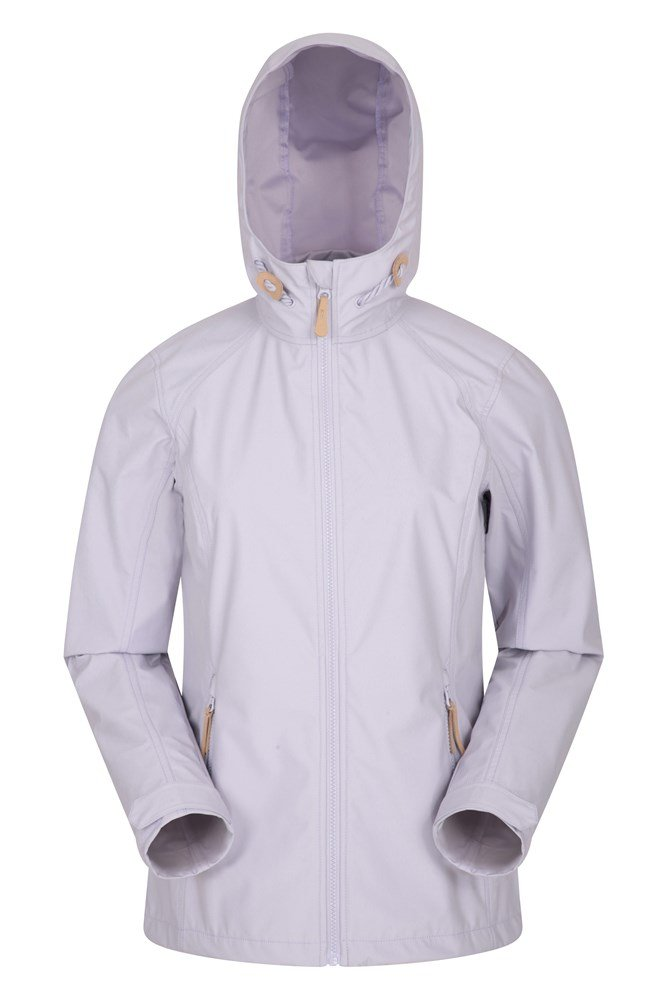Mountain Warehouse Iona Womens Water Resistant Softshell Jacket Breathable Lightweight