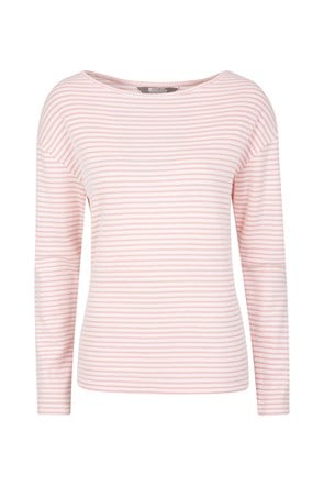 Womens Blossom Stripe Knit Top
