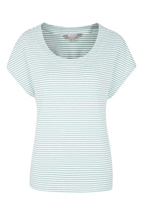 Moraine Stripe Melange Womens Tee