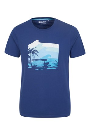 Textured Waves Mens Tee