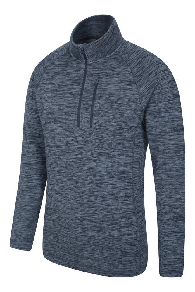 Half Zip Top for Walking Mountain Warehouse Mens 1//4 Zip Knit Jumper Long Sleeve Sweater Lightweight Warm /& Cosy Pullover Travelling