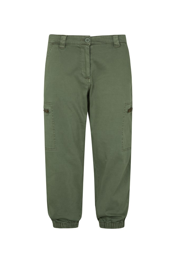 Cruise Womens Capri Trousers - Green
