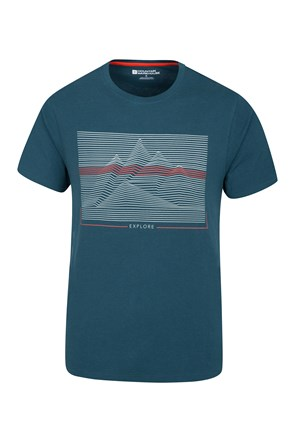 Linear Mountain Mens Tee