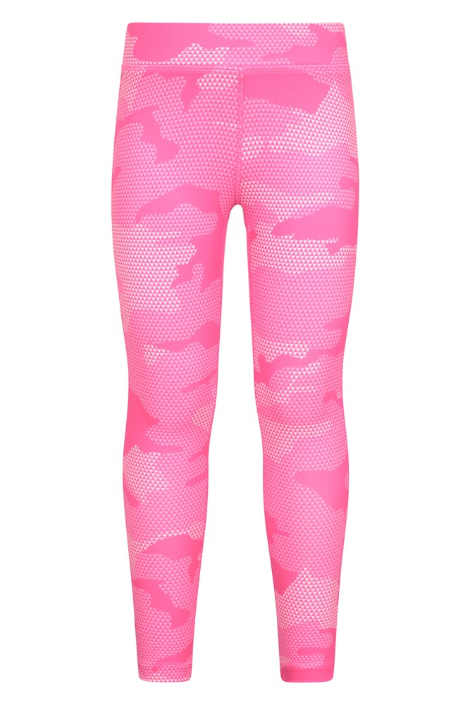 for Running Quick Wicking /& Antipill Pants Stretchable Walking Leggings Mountain Warehouse Printed Girls Leggings Cycling /& Sports Lightweight Kids Tights