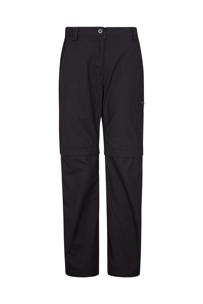 Trek II Womens Zip-Off Trousers - Black