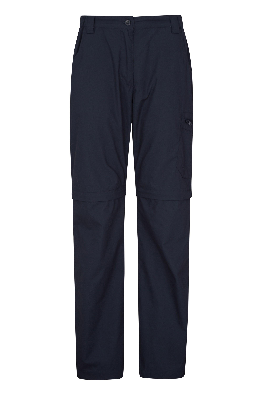 Trek II Zip-Off Damenhose - Marineblau