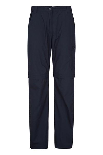 Trek II Womens Zip-Off Trousers - Navy