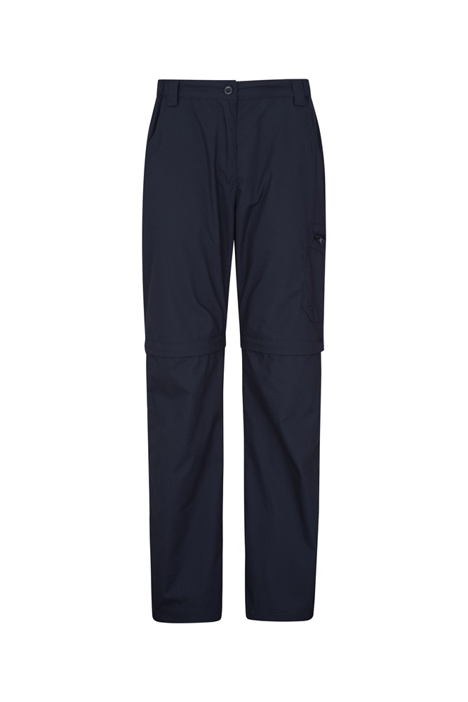 Trek II Womens Zip-Off Trousers - Navy